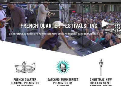 French Quarter Festival Web Development