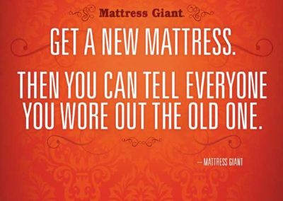 Mattress Giant Print